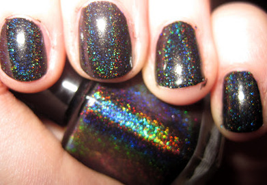 glitter gal holographic swatch in black